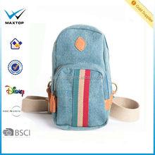 Men 2014 new fashion portable Durable unisex Canvas mens chest bag wholesale