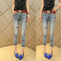 New women's fashion tide models was thin pencil pants jeans pants pantyhose Jeans for women lady girl