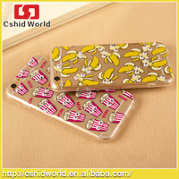 3D Eyes French Fries Chips Design Transparent Soft TPU Shell Cover For APPLE iPhone 6 6plus Fashion Funny Cartoon Phone Cases