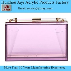 Pretty Transparent Clear Acrylic Perspex party Clutch ladies clutches wholesale