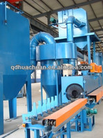 Roller bed type steel tube shot blasting machine