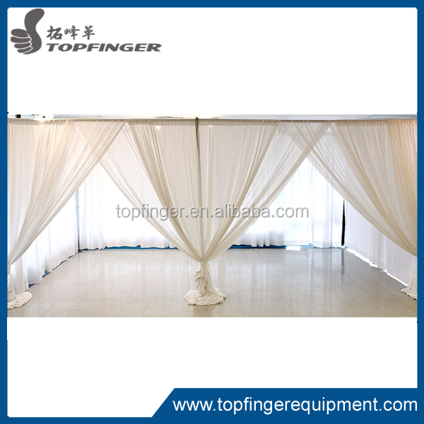 2015 tfr aluminum pipe and drape system wedding backdrops for sale used pipe and drape for sale. Black Bedroom Furniture Sets. Home Design Ideas