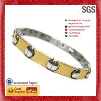 Luxury Business Energy Fashion men's cubic zirconia stainless steel bracelet