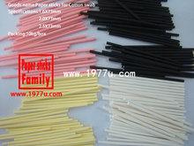 Fabbrica di vendita diretta, colorato 2.0x73mm tampone di carta di cotone bastoni, tampone di cotone nero carta bastoni
