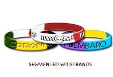 colorful segmented silicone wristband