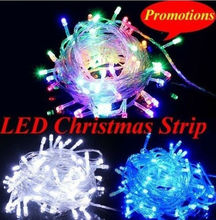Wholesale - christmas led lights 100 leds/10m LED String fairy, 110v/ 220V christmas led string light