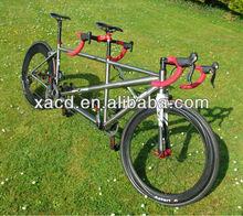 Gr9 titanium tandem road bike frame titanium tandem mtb bike frame