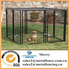 black dog use fence powder coated material dog kennel fence panel