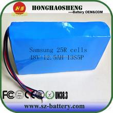 UK/ USA popular can be customize 13s 48v li-ion battery pack 18650 samsung 48v 20ah electric bike battery 48v e bike battery