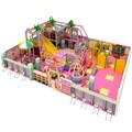 Parque temático de plástico crianças de diversões pequeno playground indoor