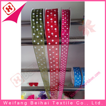 China gold manufacturer customized sheer nylon organza ribbon for felt bag