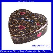 Heart Shaped Chocolate Gift Tin Box for Wedding