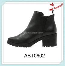 V shape elastic band casual lady boots new models industrial ankle boots women