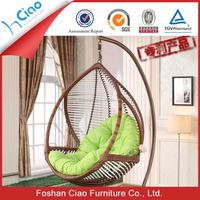 Garden furniture egg PE rattan swing chair outdoor chair swing