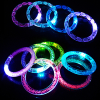 25pcs/lot Light-Up Acrylic Led Bracelets Wristbands LED Flashing bracelet Rave Multicolor Party Accessory toy