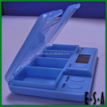 Beauty Colorful Pill box with reminder,Medicine box/mini pill box /plastic pill box with Clock G20B131-A3