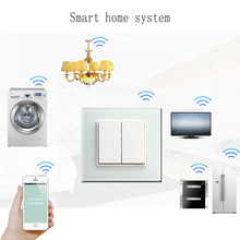 AUELEC Iphone / Android monile phone control Wifi light switch , wall switch in home automation