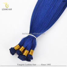 New Arrival Brand Name Good Feedback Top Quality No Shedding No Tangle Double Drawn dark blue color human hair weave