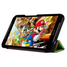 tri fold super slim tablet leather flip case,for acer stand cover case