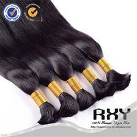 Mink unwefted bulk virgin hair for braiding, virgin remy hair unwefted, cheap hair buck