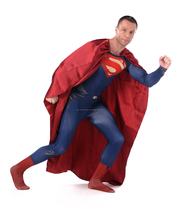 Traje de Superman hombres adultos alta calidad de Lycra Spandex Zentai traje de Halloween Fantasia Infantil carnaval Costume