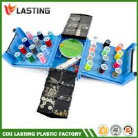 Plastic Sewing Kit Folding Compact Box Folding Plastic Sewing Box
