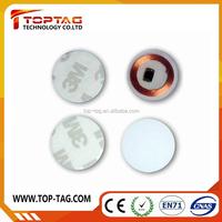 RFID 13.56mhz HF blank Plastic round rfid disc tags