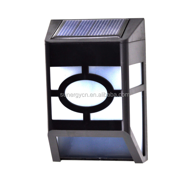 automatically function solar wall light 2 leds solar