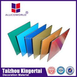 Alucoworld pvdf coating exterior wall paint acp color chart aluminum composite panel(acp)