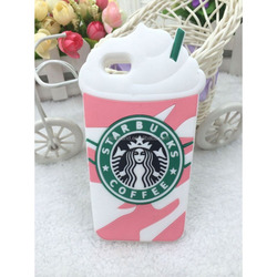 Entertaining 3D Starbucks Ice Cream Coffee Cup Soft Silicone Case For Apple iPhone 4/4S/5/6