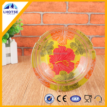 OEM Round Painted Colored Glass Ashtray Home Use Glassware
