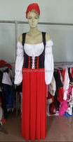 2015 China wholesale Walson Ladies Women Oktoberfest Beer Carnival Wench Maid Costume Outfit Fancy Dress Halloween