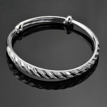 Pulseira de prata por atacado, moonlon 100% 925 pulseira de prata esterlina