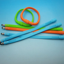 Wholesale Hot silicone small stylus touch pen band