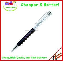 Low price pen promotional logo printed metal crystal pen