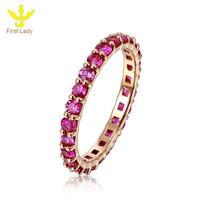 Fine Jewelry Solid 18k Rose Gold 1.58ct Ruby Ring