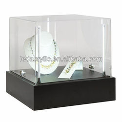 LED Lighted Acrylic Jewelry Display Case with Locks