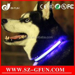 LED Light Safety Night Visible Pet Collar for Dog Cat Blue Flash LED collars