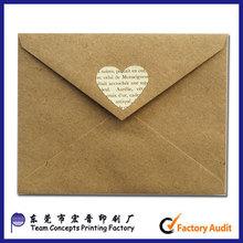 handmade promotional kraft paper gift envelope
