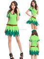 mujer verde de fantasía sexy cosplay de hadas tinkerbell vestido de traje de halloween para adultos