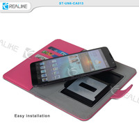 For Alcatel One Touch Pop C7 Case Factory Price Universal Leather Case For Smartphone