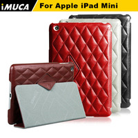 2015 discount ! IMUCA brand luxury fashion rhombus flip stand leather case for ipad mini 2 3 case