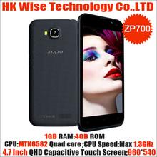 4.7 inch QHD zopo zp700 MTK6582 quad core phone 1G/4G dual camera android dual sim phone