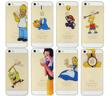 Ultrathin Grind arenaceous Hard Cover Case For Iphone 5s 5 Homer Simpson Simpsons Snow White Gasp Logo Transparent cell phones