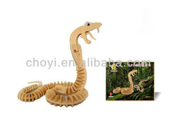 3D Wooden Puzzle snake