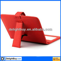 Red Leather Case with USB Interface Keyboard for 8 MID Tablet PC