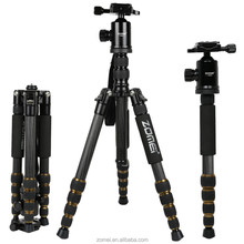 Zomei Hot Selling OEM Welcome 60-inch up to 35lbs travel photography equipment z699c slr portable tripod kit