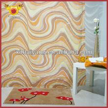 Curvo baño marrón cortinas de lujo con volantes cortinas