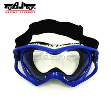 BJ-MG-003 Durable Manufacture Blue Clear Lens Prescription Stree Motorcycle Motocross Dirt Bike Biker Safety Goggles