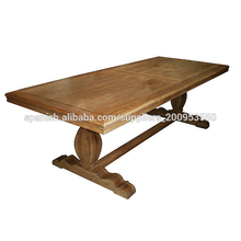 Muebles antiguos europeo mesa de comedor de madera de teca reciclada
